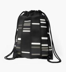 DNA Art Weiß auf Schwarz Turnbeutel