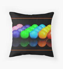 Gum Balls Throw Pillow
