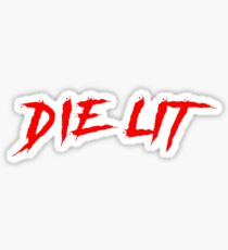 Die Lit Artwork Inspired By Playboi Carti Sticker