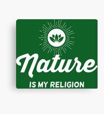 Nature Vintage Logo Canvas Print