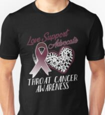 Love Support Advocate Throat Cancer Tee Unisex T-Shirt