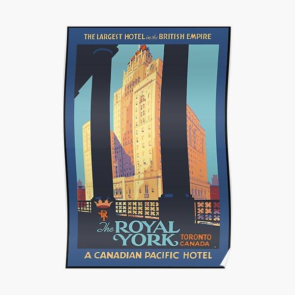 Vintage Travel Poster Toronto Canada Poster