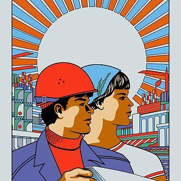 Vintage Soviet Poster by G-Design