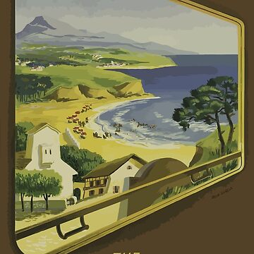 Vintage Travel Poster Basque Coast France by G-Design