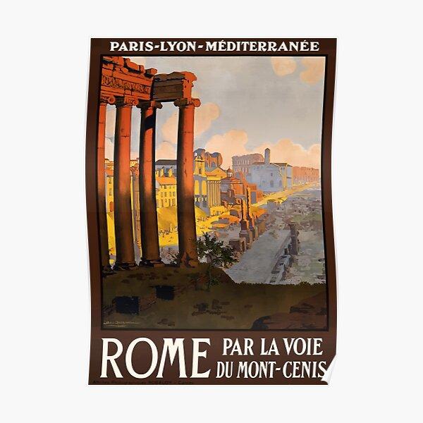 Vintage Rome Travel Poster Poster