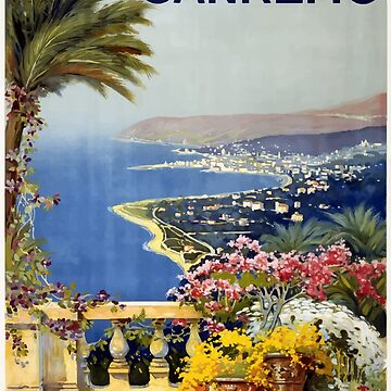 Vintage San Remo Travel Poster by G-Design