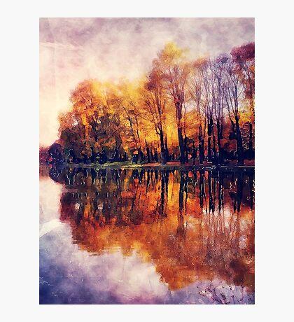 Autumn Cracow watercolor Photographic Print
