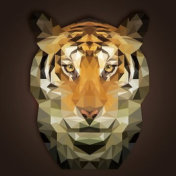 Art - Polygonal Tiger by GraphicallyS