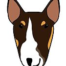 ZOOEY BULL TERRIER BIG DOG PATTERN by emilydevineart