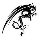 Tribal Dragon Tattoo 2 by kracov