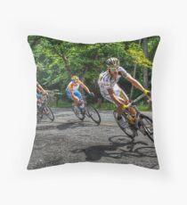 Hincapie Wins Cycling Championships Throw Pillow