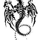 Tribal Dragon Tattoo 3 by kracov