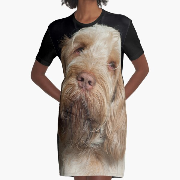 Head tilt Spinone Graphic T-Shirt Dress
