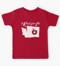 Red for Ed Washington Kids Tee
