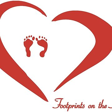 Baby Footprints on the heart by blacksquare