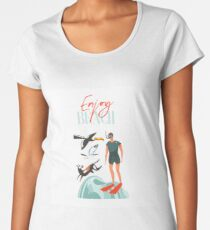Enjoy beach Women's Premium T-Shirt