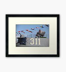 armament warship Framed Print