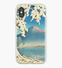 Clearing after a Snowfall on Mount Fuji 1932 - Kawase Hasui Print iPhone Case