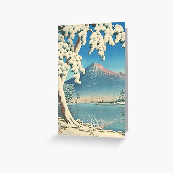 Clearing after a Snowfall on Mount Fuji 1932 - Kawase Hasui Print Greeting Card