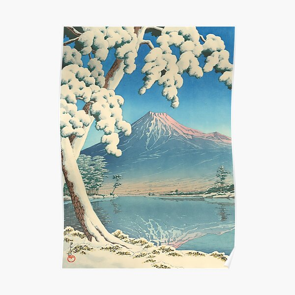 Clearing after a Snowfall on Mount Fuji 1932 - Kawase Hasui Print Poster