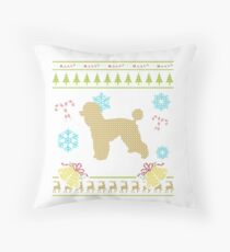 Ugly Christmas Tshirts Poodle Shirt French Poodle Miniature Throw Pillow