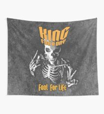 King For A Day Skull Wall Tapestry