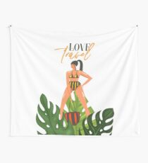Beach girl 2 Wall Tapestry