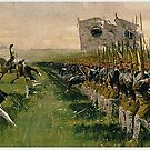 Hohenfriedberg.. Attack of Prussian Infantry, June 4th, 1745 by edsimoneit