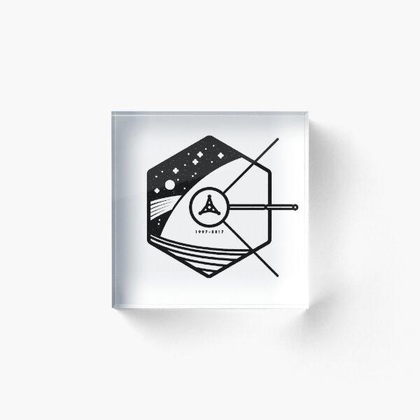 In Honour of Cassini–Huygens Acrylic Block
