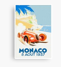 Grand Prix Monaco 1937 Canvas Print
