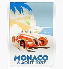 Grand Prix Monaco 1937 Poster