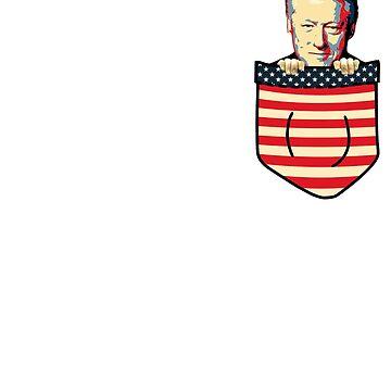 Bill Clinton Chest Pocket by idaspark