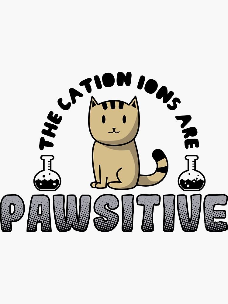 The Cation Ions Are Pawsitive - Funny Chemistry Quote Gift von yeoys