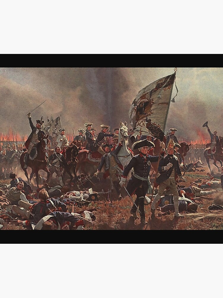 Frederick the Great Leads at Battle of Zorndorf by edsimoneit