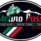 Stelvio Pass T-Shirt & Sticker 2018 - Italian Flag Colors by ROADTROOPER