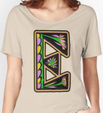 THE LETTER E - 2018- 40 DAY CHALLENGE - HAND DRAWN - GRAHIC ALPHABET  Women's Relaxed Fit T-Shirt