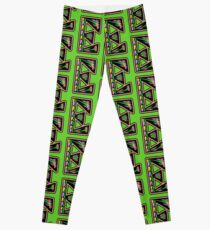 THE LETTER E - 2018- 40 DAY CHALLENGE - HAND DRAWN - GRAHIC ALPHABET  Leggings