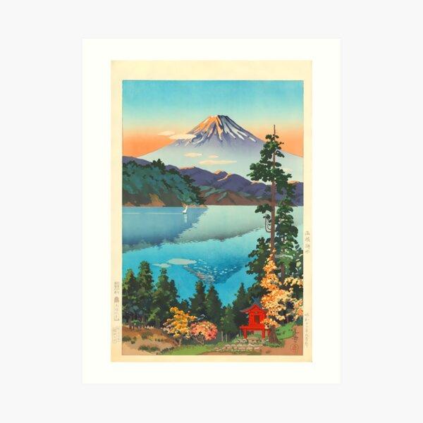 Lake Ashi In The Hakone Hills in Early Autumn Tsuchiya Koitsu Print Art Print