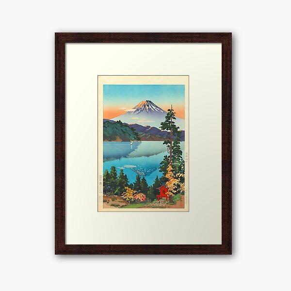 Lake Ashi In The Hakone Hills in Early Autumn Tsuchiya Koitsu Print Framed Art Print