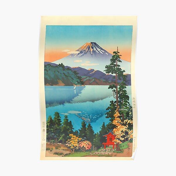 Lake Ashi In The Hakone Hills in Early Autumn Tsuchiya Koitsu Print Poster