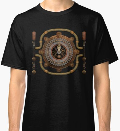 Steampunk Vintage Clock, Pipes and 'Stuff' Classic T-Shirt