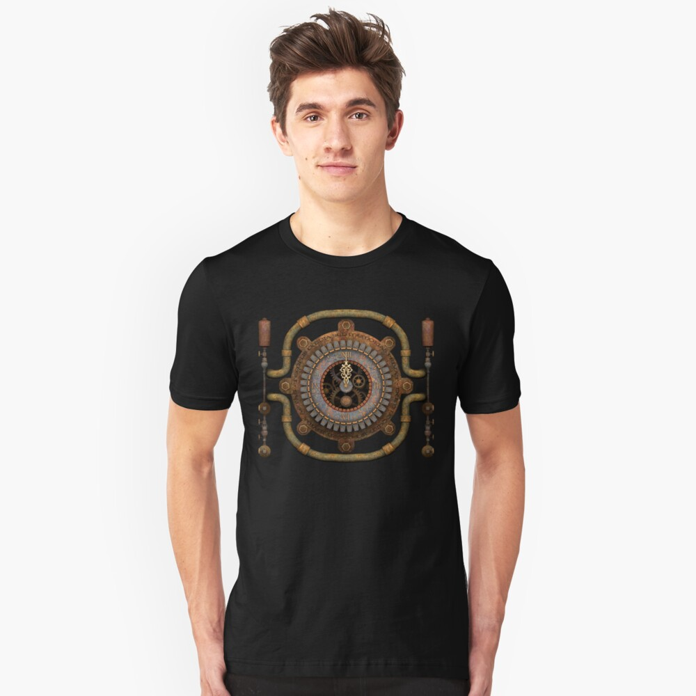 Steampunk Vintage Clock, Pipes and 'Stuff' Unisex T-Shirt