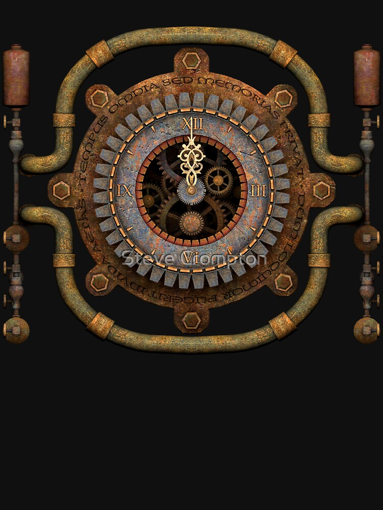 Steampunk Vintage Clock, Pipes and 'Stuff' by SC001