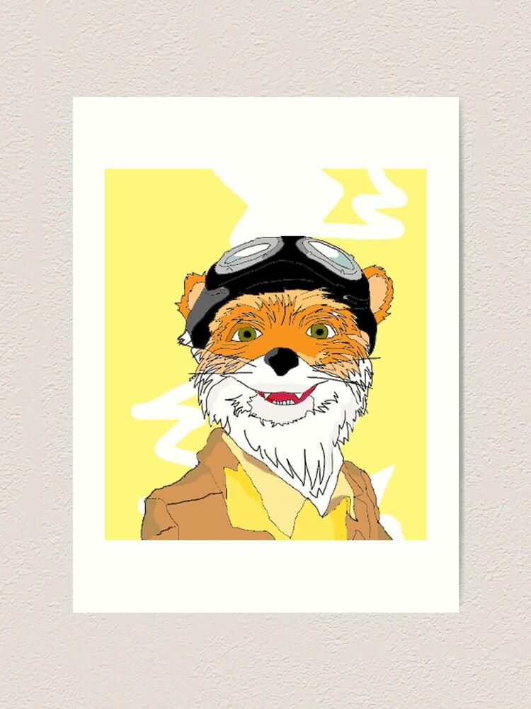 Fantastic Mr Fox Art Print By Hollowbecky Redbubble