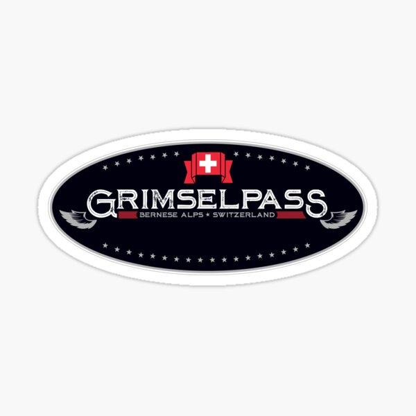 Grimsel Pass Switzerland T-Shirt + Sticker Sticker