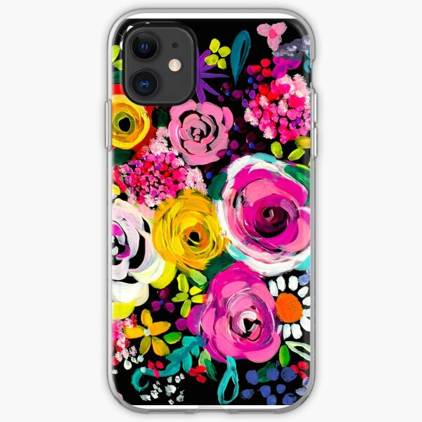 Les Fleurs Vibrant Floral Painting Print iPhone Soft Case
