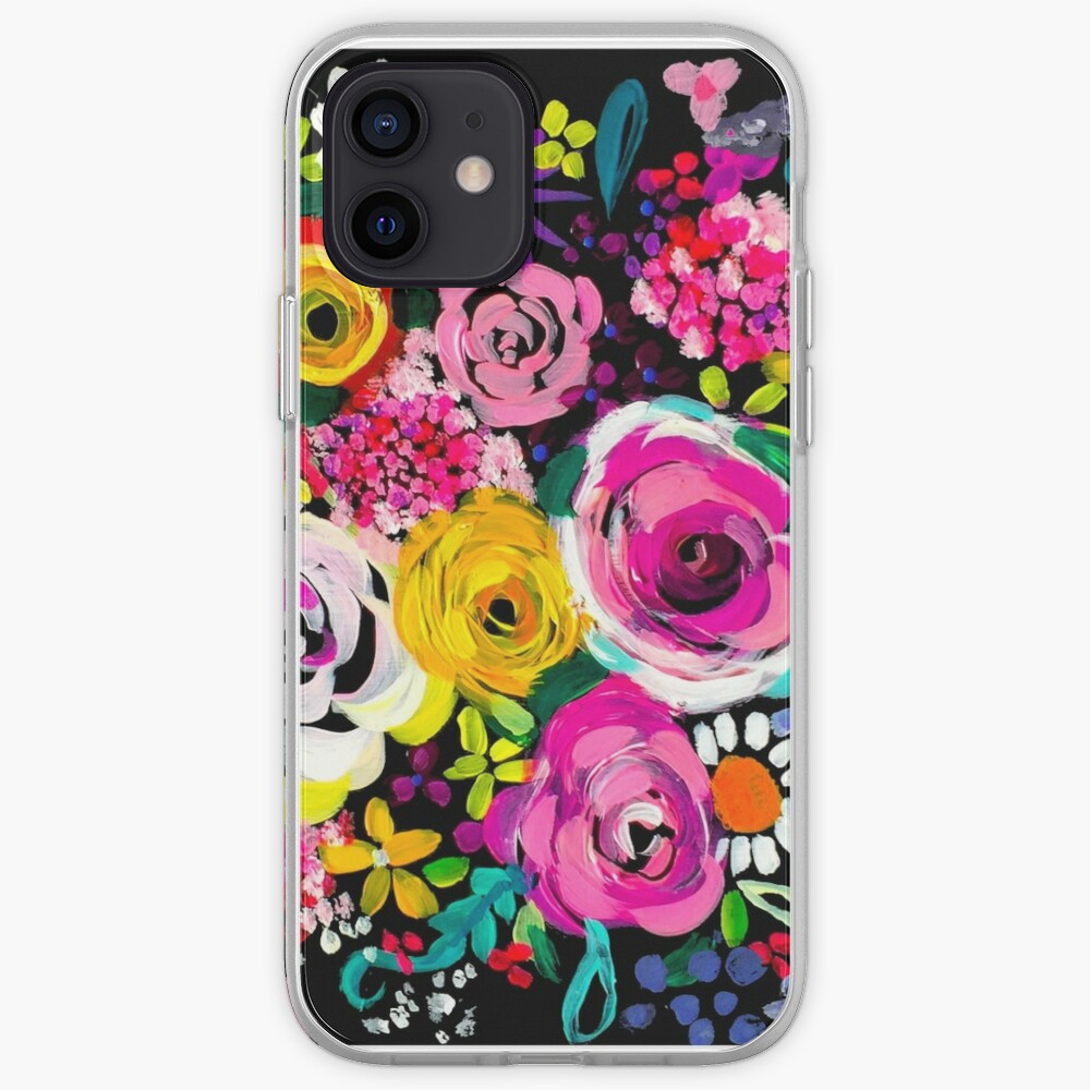 Les Fleurs Vibrant Floral Painting Print iPhone Case & Cover