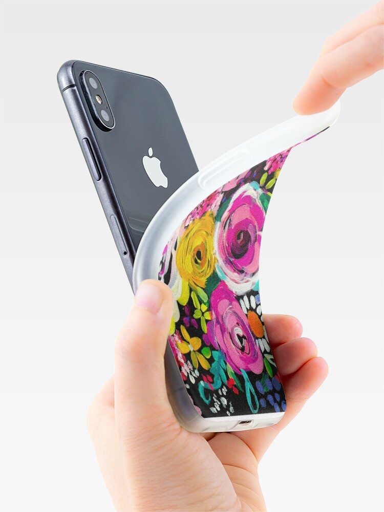 Alternate view of Les Fleurs Vibrant Floral Painting Print iPhone Cases & Covers