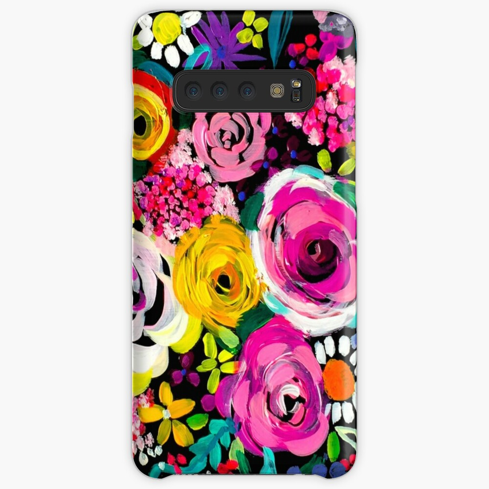 Les Fleurs Vibrant Floral Painting Print Case & Skin for Samsung Galaxy