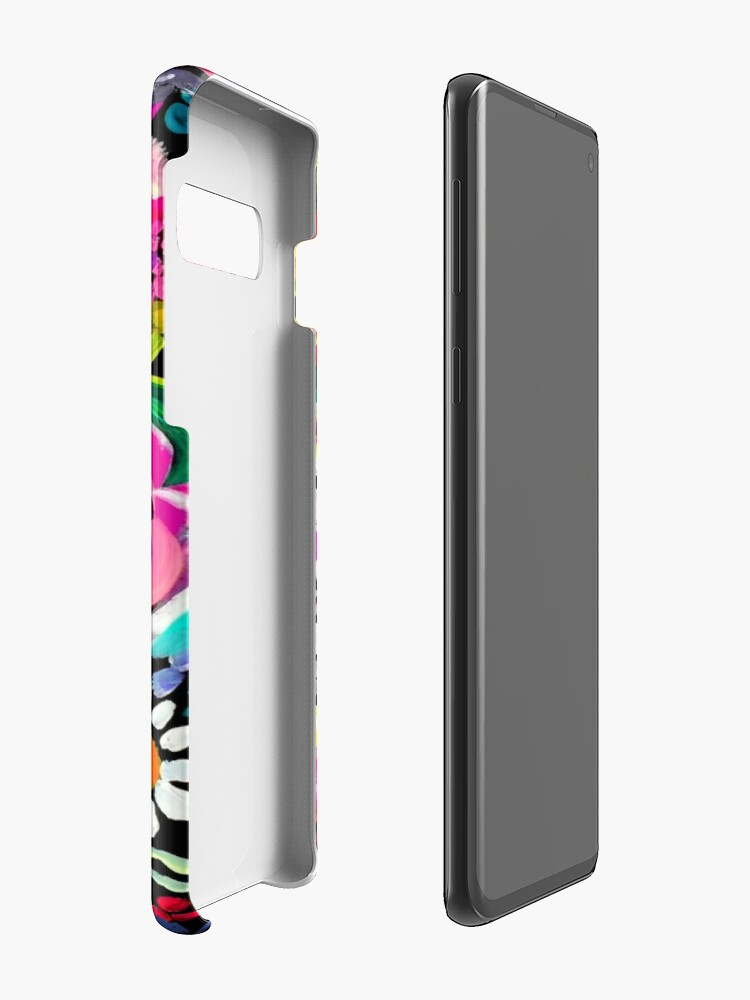 Alternate view of Les Fleurs Vibrant Floral Painting Print Case & Skin for Samsung Galaxy